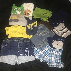 13 pc lot, Boys 18M, overalls, outfits, T-shirts